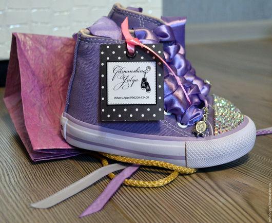 Детская обувь ручной работы. Ярмарка Мастеров - ручная работа. Купить Красивые. Handmade. Сиреневый, готовая работа, для фотосессии, для принцессы