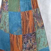 """Одежда ручной работы. Ярмарка Мастеров - ручная работа Юбка валяная """"Яркий пэчворк"""". Handmade."""