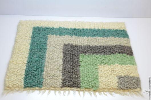 Текстиль, ковры ручной работы. Ярмарка Мастеров - ручная работа. Купить Коврик из овечьей шерсти KB031m. Handmade. комбинированный