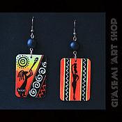 """Украшения ручной работы. Ярмарка Мастеров - ручная работа Серьги """"African Style"""". Handmade."""