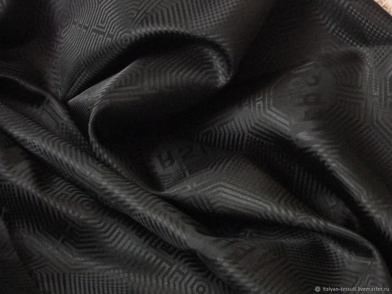 Шитье ручной работы. Ярмарка Мастеров - ручная работа. Купить Подкладочная жаккард ( Versus), Италия. Handmade. Черный