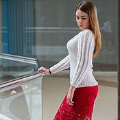 Одежда ручной работы. Ярмарка Мастеров - ручная работа Вязаный джемпер White. Handmade.
