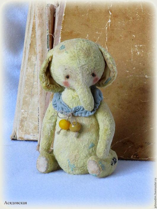 """Мишки Тедди ручной работы. Ярмарка Мастеров - ручная работа. Купить Слоник """"Yellow bead"""". Handmade. Слоник тедди, подарок"""