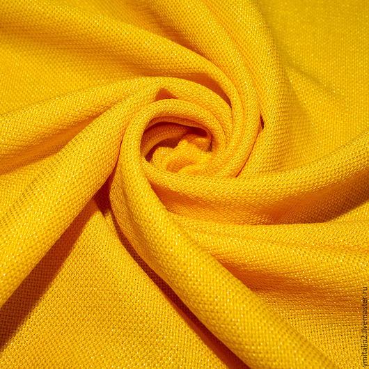 Шитье ручной работы. Ярмарка Мастеров - ручная работа. Купить Рогожка шерстяная   Salvatore Ferragamo ярко-желтая. Handmade.