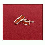 handmade. Livemaster - original item Silver earrings with red Jasper. Handmade.
