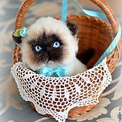 """Куклы и игрушки ручной работы. Ярмарка Мастеров - ручная работа Голубоглазый кот """"Матвей"""". Handmade."""