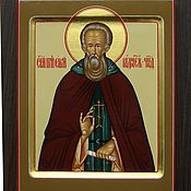Картины и панно handmade. Livemaster - original item Icon of St. Sergius of Radonezh (handwritten). Handmade.