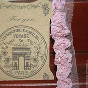Кружево ручной работы. Ярмарка Мастеров - ручная работа Кружево 3D пыльно розовое. Handmade.