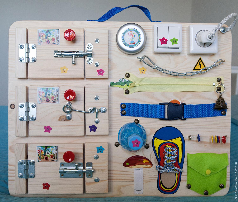 Развивающая доска с кнопочками для малышей своими руками