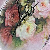 """Для дома и интерьера ручной работы. Ярмарка Мастеров - ручная работа Часы настенные """"Розовый щербет"""". Handmade."""
