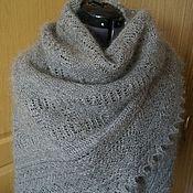 Аксессуары handmade. Livemaster - original item 384 Downy kerchief light grey. Orenburg down jacket.. Handmade.