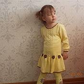 Одежда ручной работы. Ярмарка Мастеров - ручная работа платье вязаное для девочки Золушка. Handmade.