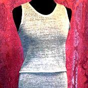 Одежда ручной работы. Ярмарка Мастеров - ручная работа 100% льняная пряжа.Женский костюм КУЛИРКА. Handmade.