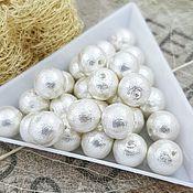 Материалы для творчества handmade. Livemaster - original item 1 PCs. Pearl cotton white 8mm Japan (3784-8). Handmade.