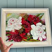 Картины и панно handmade. Livemaster - original item Peonies Ice and fire oil Painting. Handmade.