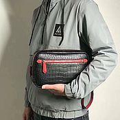 Сумки и аксессуары handmade. Livemaster - original item Clutch bag, men`s crocodile leather, in black.. Handmade.