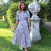 """Одежда ручной работы. Ярмарка Мастеров - ручная работа Голубое платье """"Прованс"""". Handmade."""
