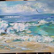 Картины и панно handmade. Livemaster - original item Azure breeze - painting with sea oil. Handmade.