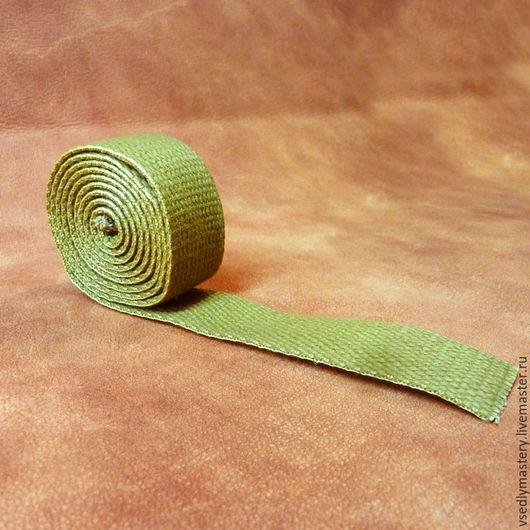 Другие виды рукоделия ручной работы. Ярмарка Мастеров - ручная работа. Купить Лента хлопковая 25 мм - брезентовая. Handmade.