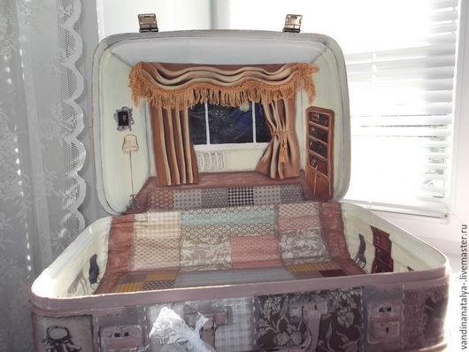 Кукольный дом ручной работы. Ярмарка Мастеров - ручная работа. Купить Чемодан-бохо, домик для кукол. Handmade. Чемодан