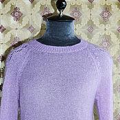 Одежда ручной работы. Ярмарка Мастеров - ручная работа свитер вязаный из кид-мохера с шелком. Handmade.