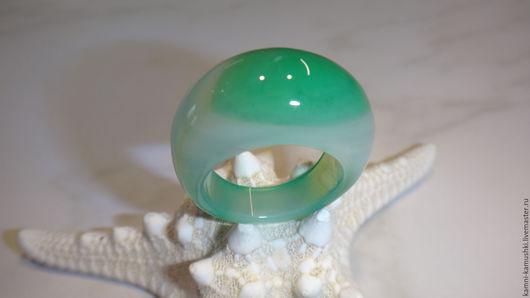 Кольца ручной работы. Ярмарка Мастеров - ручная работа. Купить Кольцо из агата. Handmade. Ярко-зелёный, светло-зеленый агат