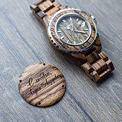 Деревянные часы наручные