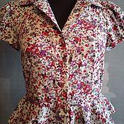 Одежда handmade. Livemaster - original item blouse: Women`s Short Sleeve Blouse. Handmade.