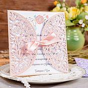 Приглашения ручной работы. Ярмарка Мастеров - ручная работа Свадебные приглашения. Handmade.