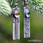 Украшения handmade. Livemaster - original item Earrings silver Motley grass, citrine, topaz. Handmade.