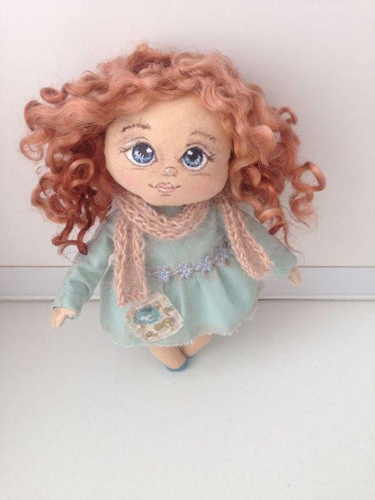 Человечки ручной работы. Ярмарка Мастеров - ручная работа. Купить Куколка. Handmade. Бирюзовый, куклы и игрушки, игрушки на елку, хлопок