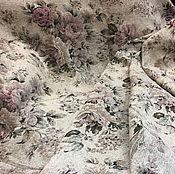 Материалы для творчества ручной работы. Ярмарка Мастеров - ручная работа Ткань гобеленовая- розы шебби. Handmade.