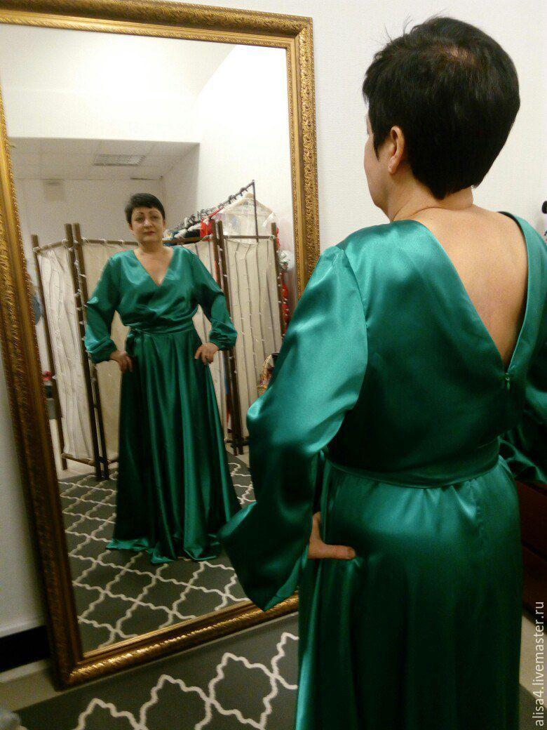 платье изумрудное в пол с длинным рукавом, Платья, Нижний Новгород,  Фото №1