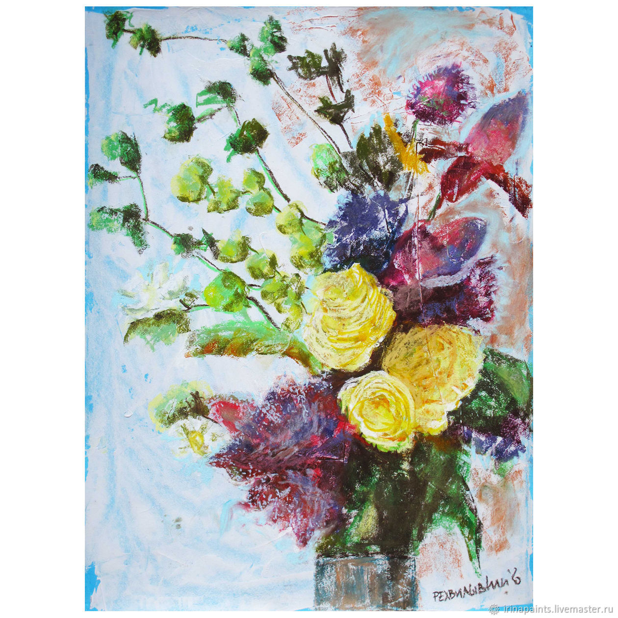 Желтые розы, Картины, Москва,  Фото №1