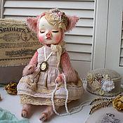 Мягкие игрушки ручной работы. Ярмарка Мастеров - ручная работа Свинка тэдди долл. Handmade.