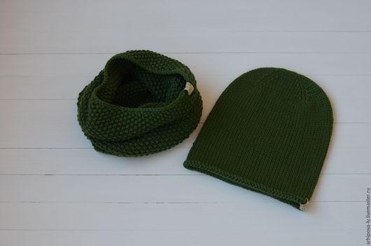 Шапки ручной работы. Ярмарка Мастеров - ручная работа. Купить Комплект вязаный шапка вязаная шапка вязанная снуд вязаный. Handmade.