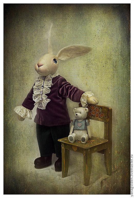 Игрушка кролик Эдвард. Игрушка ручной работы.