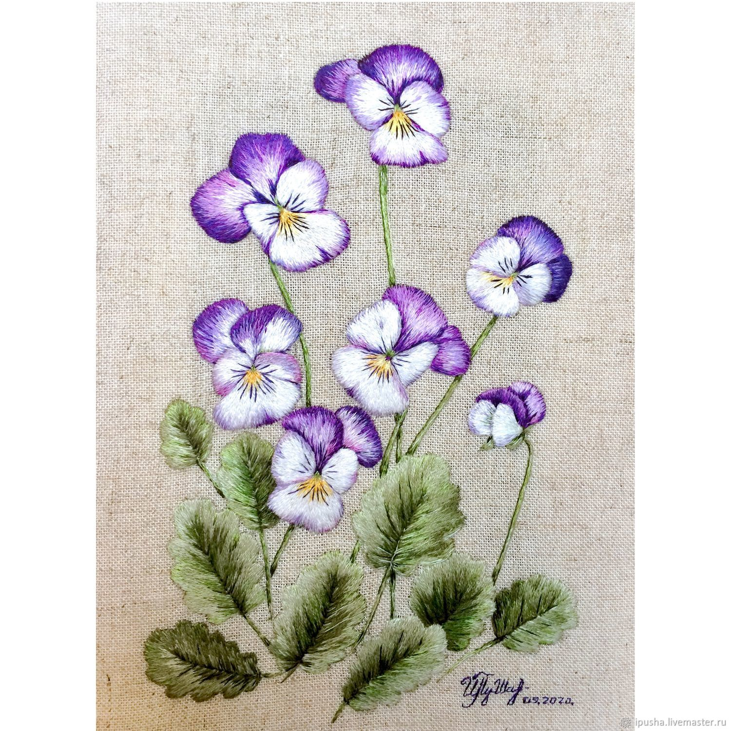 'Violets', an embroidered stitch pattern, Pictures, Novorossiysk,  Фото №1
