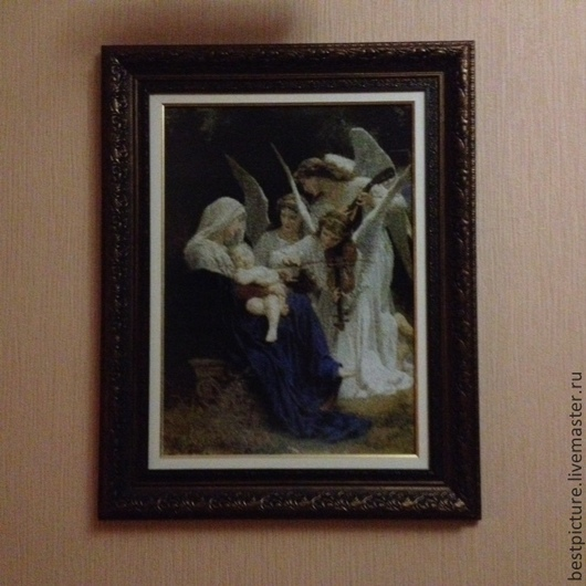 Фантазийные сюжеты ручной работы. Ярмарка Мастеров - ручная работа. Купить песня ангела. Handmade. Бежевый, Вышивка крестом, ангел
