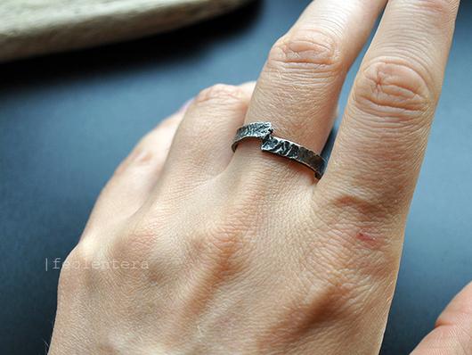 Кольца ручной работы. Ярмарка Мастеров - ручная работа. Купить Off-road - кованое кольцо (серебро 925). Handmade. Серебряный