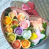 Мыло ручной работы. Ярмарка Мастеров - ручная работа Мыло ручной работы розы и орхидеи подарочный набор.Мыло цветы. Handmade.