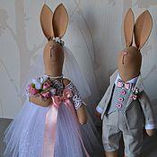 Куклы и игрушки ручной работы. Ярмарка Мастеров - ручная работа Свадебные зайцы. Подарок на свадьбу. Фотосессия.. Handmade.