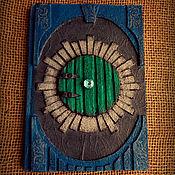 """Канцелярские товары ручной работы. Ярмарка Мастеров - ручная работа Блокнот """"Круглая Дверь"""". Handmade."""