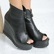 Обувь ручной работы handmade. Livemaster - original item Copy of Copy of Black Short Boots. Handmade.
