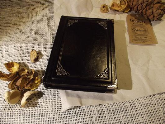 """Блокноты ручной работы. Ярмарка Мастеров - ручная работа. Купить Блокнот ручной работы """"Алая книга"""". Handmade. Черный"""