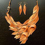 Украшения handmade. Livemaster - original item Leather necklace, leather jewelry, gift to your favorite.. Handmade.