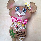 Мягкие игрушки ручной работы. Ярмарка Мастеров - ручная работа Кофейный позитивчик мышка в наличии и на заказ. Handmade.