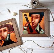 """Картины и панно ручной работы. Ярмарка Мастеров - ручная работа """"Испанская гитара"""", авторская печать.. Handmade."""