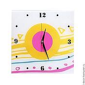 Для дома и интерьера ручной работы. Ярмарка Мастеров - ручная работа Настенные часы из коллекции Геометрия - подарок для дома. Handmade.