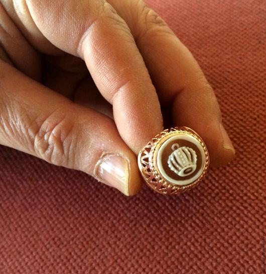 """Винтажные украшения. Ярмарка Мастеров - ручная работа. Купить Кольцо и серебра с антикварной камеей """"Корона Империи"""".. Handmade. Кольцо с камеей"""